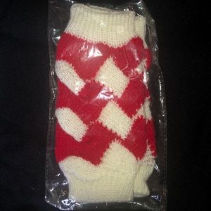 unbranded Accessories - Red Color Block Fingerless Gloves